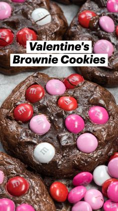 Brownie Cookies, Cookie Desserts, Yummy Cookies, Cake Cookies, Cookie Recipes, Cupcakes, Valentines Day Desserts, Valentine Treats, Holiday Treats