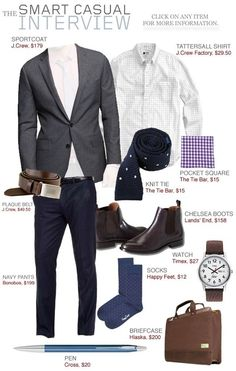 I have most of this in my closet. Great outfit, though I think a little too casual for an interview.