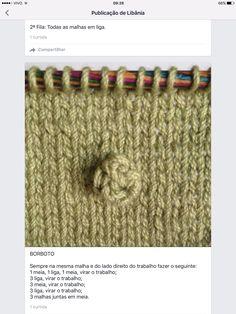 Ponto de tricô fantasia