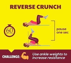 Flat Abs Workout - Reverse Crunch