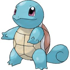 Squirtle. This Tiny Turtle Pokémon draws its long neck into its shell to launch incredible water attacks with amazing range and accuracy. The blasts can be quite powerful.