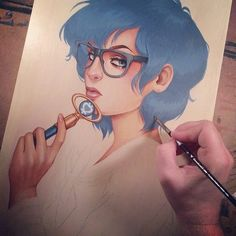 Sailor Mercury | Why not try drawing one of your favorite cartoon characters in a photo-realistic / life-like way, or vice versa?  Animate one of your favorite live-action characters!