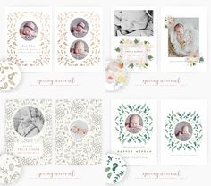 Spring Arrival Birth Announcement by Oh Snap Boutique on @creativemarket