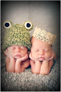 princess and the frog hats for B/G twins on We Heart It