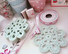 Crochet Flower Coasters Inspiring Crochet and Tilda Craft Projects