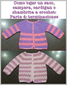 Cómo tejer un saco, campera, cardigan o chambrita a crochet paso a paso: Parte – Terminaciones Knitting PatternsKnitting FashionCrochet BlanketCrochet Baby Knitting For Kids, Crochet For Kids, Crochet Baby, Knit Crochet, Crochet Capas, Crochet Vest Pattern, Crochet Cardigan, Crochet Patterns, Crochet Jacket