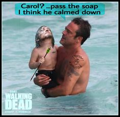 If takes over, will bathe. Walking Dead Tv Show, Walking Dead Memes, Jeffrey Dean, Stuff And Thangs, Calm Down, Daryl Dixon, Jdm, I Laughed, Funny Stuff
