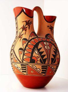 Vintage Wedding Vase, Jemez Artist Lenora Fragua | Kilgore American Indian Art