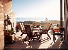 Vue sur mer. Série ÄPPLARÖ #IKEABErepin #terrasse #jardin