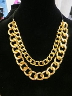 Thick Chunky Gold OR Silver Adjustable Necklace Chunky Chain Statement Bib Cuff Necklace /Marrakesh