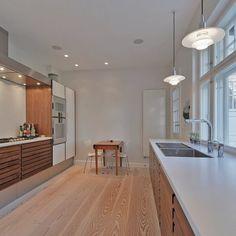 Case på et køkken i en patriciervilla i smukke omgivelser