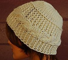 Cable Banded Hat