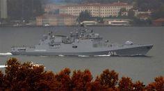 Russland hat am Montag die Fregatte Admiral Grigorovic zur Unterstützung seiner Flotte im Mittelmeer an der syrischen Küste auf den Weg geschickt...