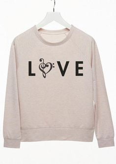 love music note sweatshirt - Graphic Tees - dELiA*s