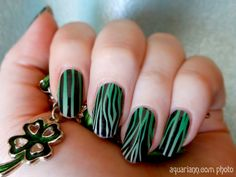 Is my #StPatricksDay manicure green with black stripes or black with green stripes?