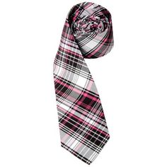 Plaid Tie by Andrew Christian in Megenta