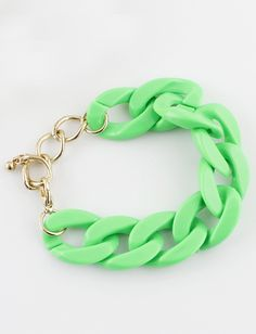 Fashion Green Chain Link Bracelet - Sheinside.com