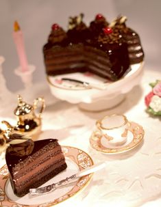 Chocolate Cream Cake by ChocolateDecadence on deviantART