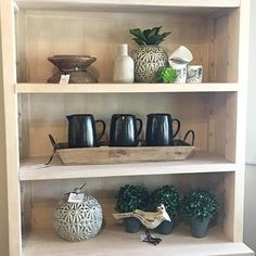 The problem isn't that were are too many cute accessories, the problem is that there is limited shelf space. ••••••••••••••••••••••••••••••••••••••••••••••••••••• #downtoearthhome #gardnervillage #livingroom #livingroomfurniture #furniture #home #homedecor #homedecorating #inspire_me_home_decor #utahinteriors #Interiordesign #Interior_design #designlocal #dotandbo #bedroomdecor #hgtvhome #hgtv #houzz #artwork #artist #livingroomgoals #homedecor #mystyle #summervibes #utahparadeofhomes…