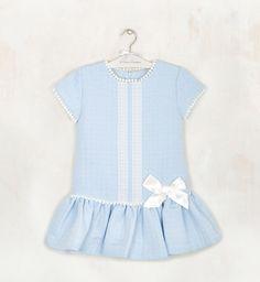 Vestido talle bajo azul   Aiana Larocca