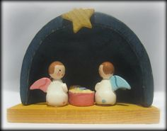 Vintage Mini Nativity Scene Adorable by northandsouthshabby