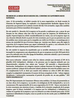 CCOO Supersol Málaga: Comunicado CCOO Mesa Negociadora Supersol 12 de no...