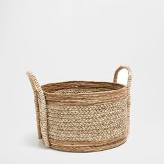 LARGE ROUND BANANA AND ESPARTO GRASS BASKET - Laundry Baskets - Bathroom | Zara Home United States of America