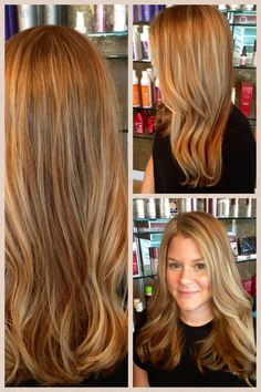 Absolutely amazing!  Golden, apricot shades with butter blonde hilights.