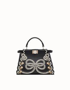 FENDI PEEKABOO MINI - Black leather bag  fendi  fendipeekaboo  peekaboo   handbags  bags  designerbags  leather ff4da2615ef