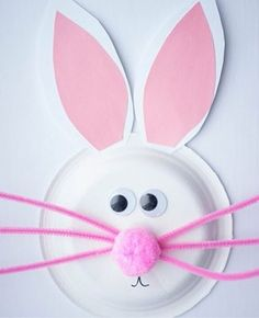 Easter crafts for toddlers – paper plate Easter bunny - Crafts For Toddlers Easter Crafts For Toddlers, Easy Easter Crafts, Easter Art, Paper Crafts For Kids, Toddler Crafts, Preschool Crafts, Paper Crafting, Craft Kids, Paper Easter Crafts