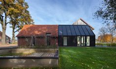 Mid-century Dutch farmhouse gets a bold contemporary makeover Barn Living Aalten by Bureau Fraai – Inhabitat - Green Design, Innovation, Architecture, Green Building
