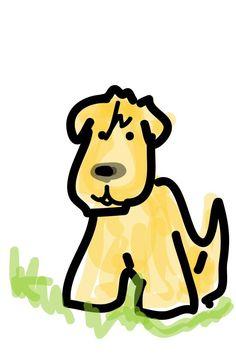 Cute illustration of a Wheaten Terrier
