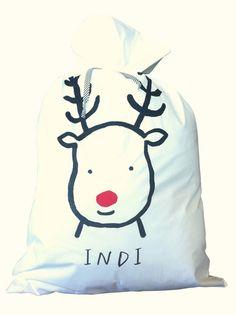 Personalised Reindeer Santa Sack - Pillowcase – Henry and Co Homewares