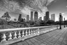 High Dynamic Range Black and White Houston, TX Skyline Artistic Photography, Fine Art Photography, Houston Skyline, Dynamic Range, Houston Tx, My Arts, Black And White, Artwork, Art Photography