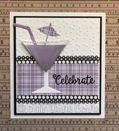 Sue Wilson Necessities Collection - 3D Cosmopolitan Cocktail Birthday Gifts For Brother, Birthday Surprise Boyfriend, Birthday Greetings, Birthday Cards, Birthday Parties, Card Making Inspiration, Making Ideas, Birthday Girl Quotes, Sue Wilson