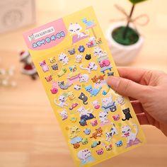 Cat Puffy Sticker Eva Foam Material Cartoon Animal Stickers Kids Diy Notebook Laptop Stickers Girls Toys For Children Cheap-toys #Affiliate