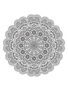Mandala Painting, Mandala Drawing, Mandala Art, Mandala Coloring Pages, Coloring Book Pages, Coloring Sheets, Art Pages, Mandala Design, Cool Drawings