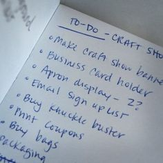 Great list of must have times for craft fairs