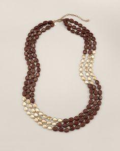 Chico's Kasha Multi-Strand Necklace #chicos Style: 570102219 $59.00 Chicos.com