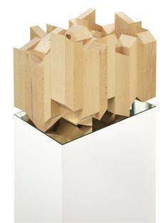 48 h      2011  Buchenholz, Spiegelplatte, Sockel I dreiteilig 100 x 36 x 24 cm