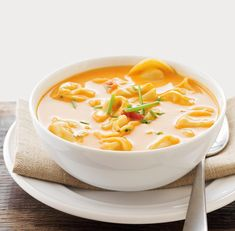 Quick Soup Recipes, Sweet Recipes, Cooking Recipes, Lean Recipes, Tomato Tortellini Soup, Soup And Salad, Soups And Stews, Food And Drink, Favorite Recipes