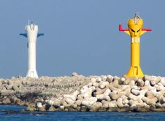 Daebyeon Hang South Breakwater Lights, Gijang County Lighthouses Korea Accessible only by boat. Site open, tower closed