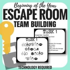 Escape Room - Team Building - Any Content - Middle School Escape Room Team Building, Team Building Games, Classroom Team Building Activities, Team Building Exercises, Beginning Of The School Year, First Day Of School, Back To School, School Stuff, Sunday School