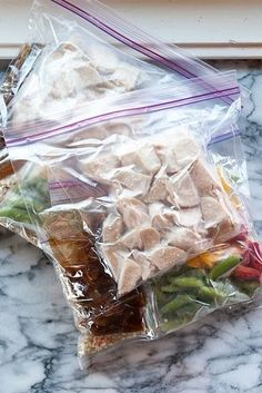 Prep and stash some stir-fry freezer meals. | 18 Make-Ahead Meals And Snacks To Eat Healthy Without Even Trying
