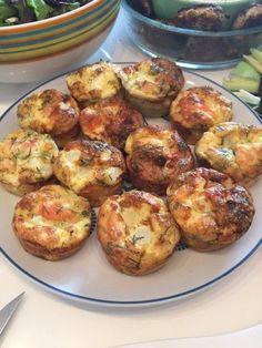 ei muffins met asperge en zalm