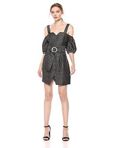 C/MEO COLLECTIVE Women's Blinded Sweet Heart Off The Shoulder Puff Sleeve Mini Dress Mini Dress With Sleeves, Program Design, Off The Shoulder, Designer Dresses, Blinds, Rompers, Elegant, Heart, Sweet
