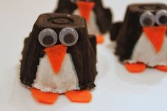 We made these penguins last winter and I just pulled out the goods to make them again this morning. I adore penguins and I think I have p...