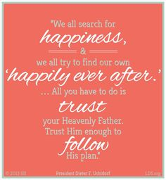Follow His plan