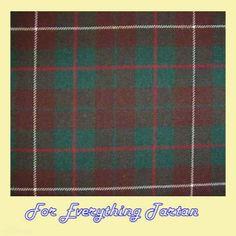 MacKinnon Hunting Modern Tartan Polyviscose Plaid Fabric Swatch  by JMB7339 - $20.00