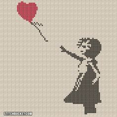 "Banksy  Pattern - Girl With Balloon ""There Is Always Hope"" by StitchBucket"